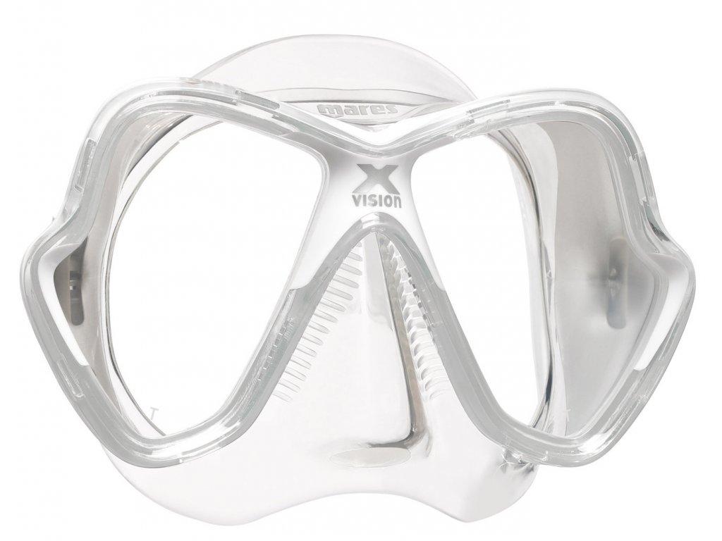 Maska Mares X-Vision transparent/bílá