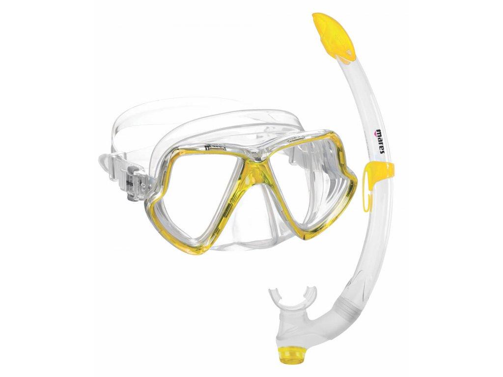 Snorchlovaci set maska a snorch Mares wahoo zluty