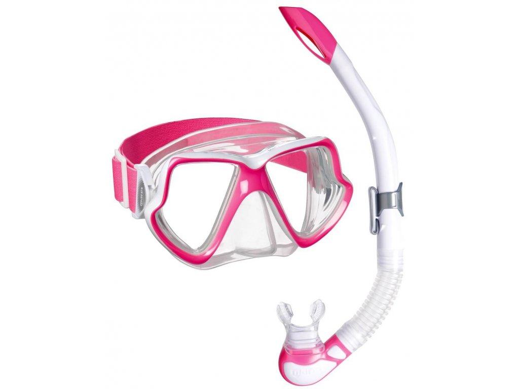Set snorchlovani Mares wahoo neon pink