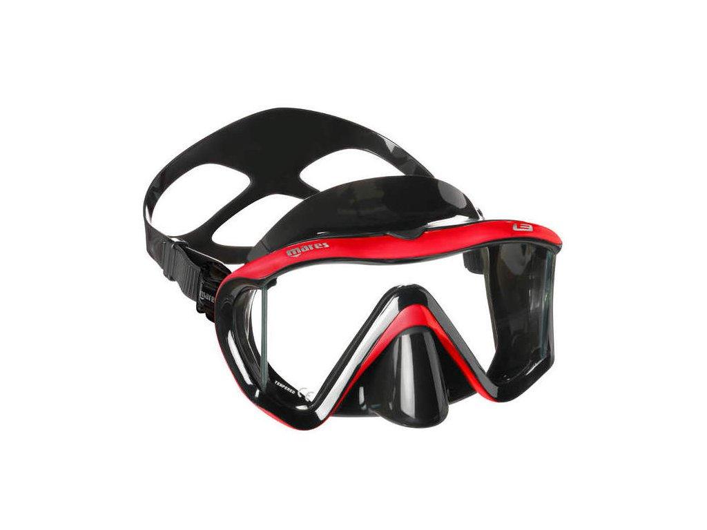 Maska Mares i3 cerna cervena
