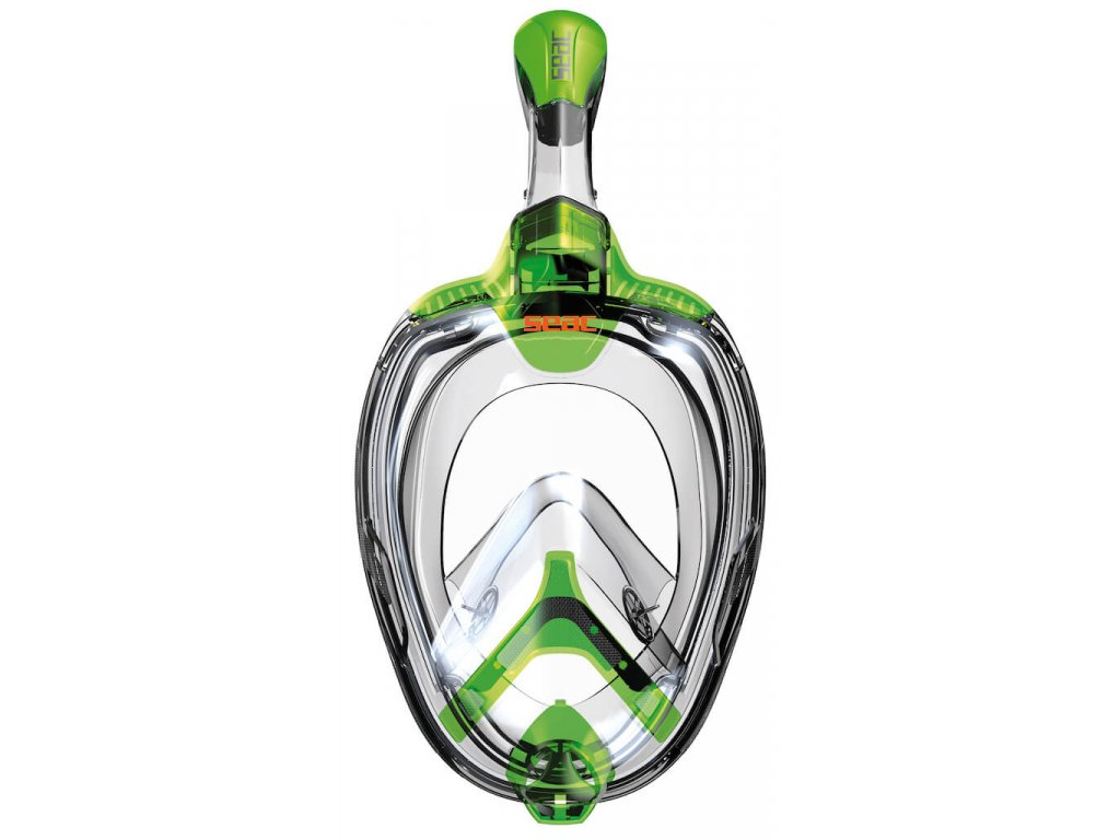 Celooblicejova snorchlovaci maska Seac Magica Junior lime