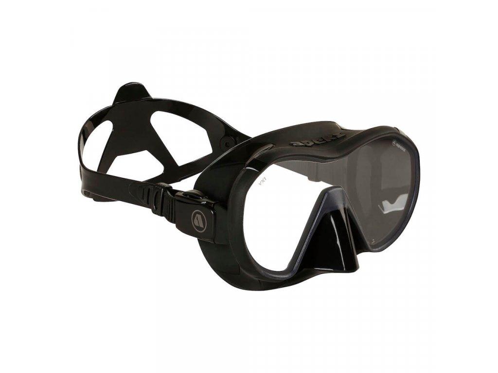 Potapecska maska bryle Apeks VX1 cerna bocni pohled