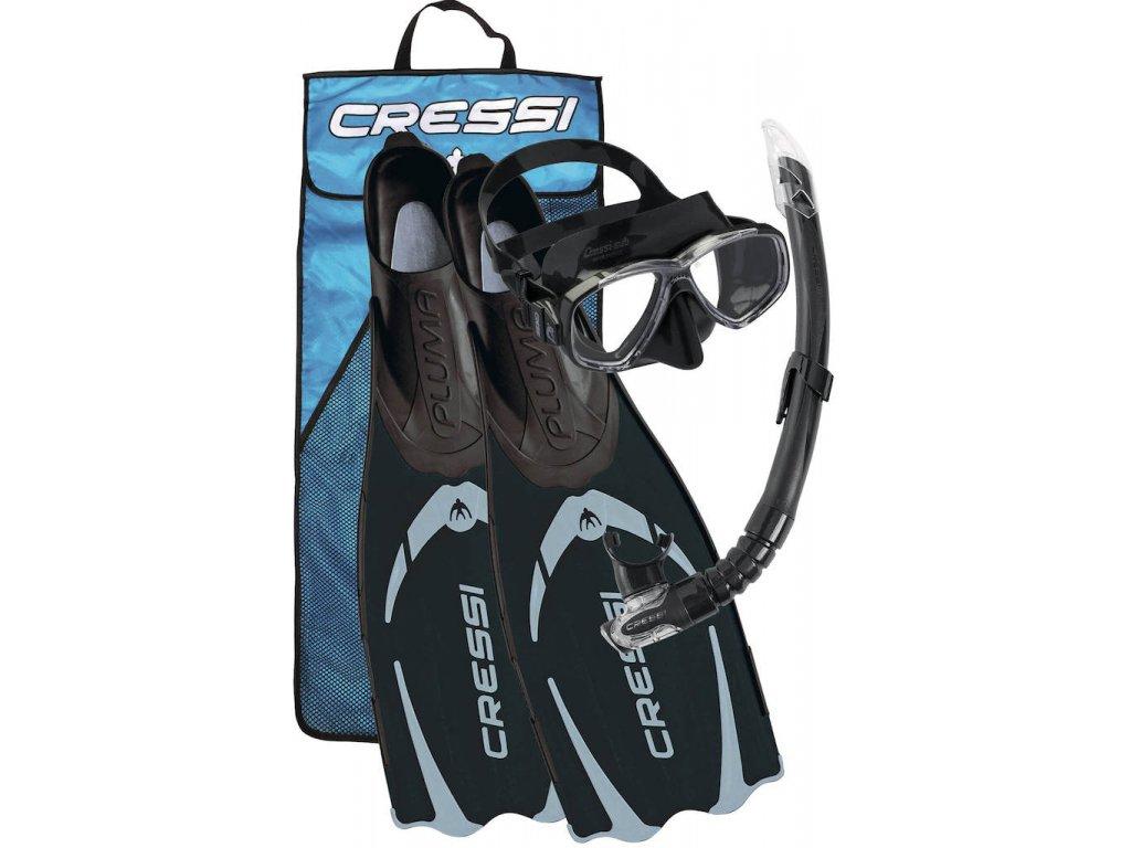 Šnorchlovací set Cressi Pluma Bag černý