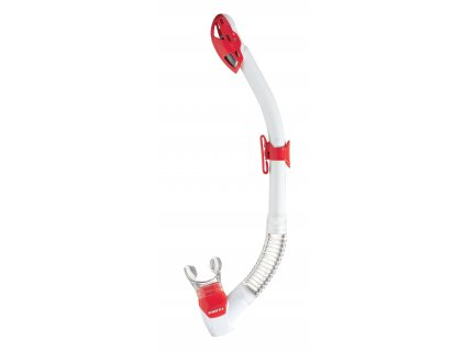 Šnorchl Mares Rebel Dry bílá/červená