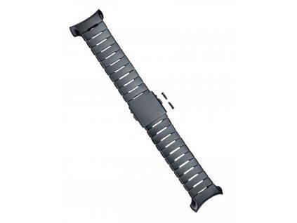 Náramek inoxový černý pro Suunto D6i All Black Steel