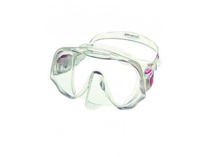 Maska Atomic Aquatics Frameless MEDIUM clear/růžová