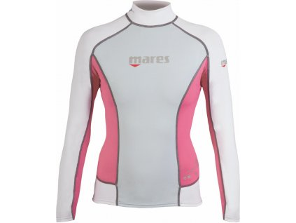 Lycrové tričko Mares RASH GUARD trilastic dámské s dlouhým rukávem růžové