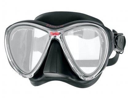 Potapecska maska Hollis M3 cerna