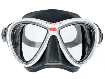 Potapecska maska Hollis M3 cerna bila