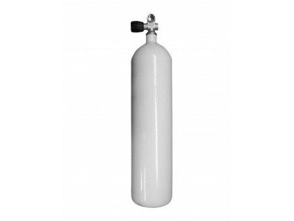 Láhev ocelová Vítkovice 7 L 230 bar, rovné dno + monoventil
