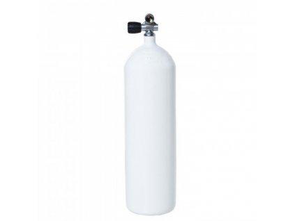 Láhev ocelová Vítkovice 12 L 230 bar 171 mm, rovné dno + monoventil