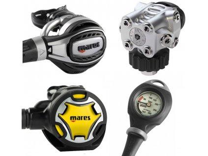 Automatika set Mares Fusion 72x s octopusem a manometrem