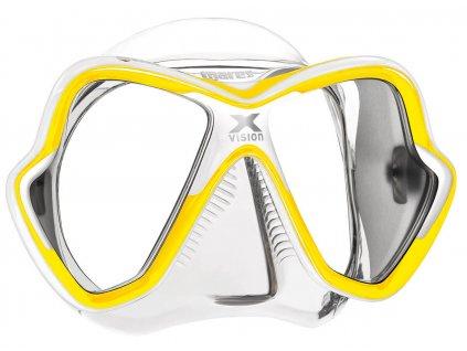 Maska Mares X-Vision transparent/žlutá
