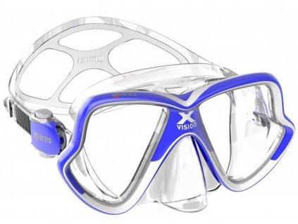 Potapecska maska Mares X Vision mid modra