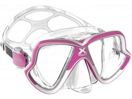 Potapecska maska Mares X Vision mid ruzova