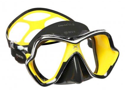 Potapecska maska Mare X Vision Liquidskin chrom cerna zluta