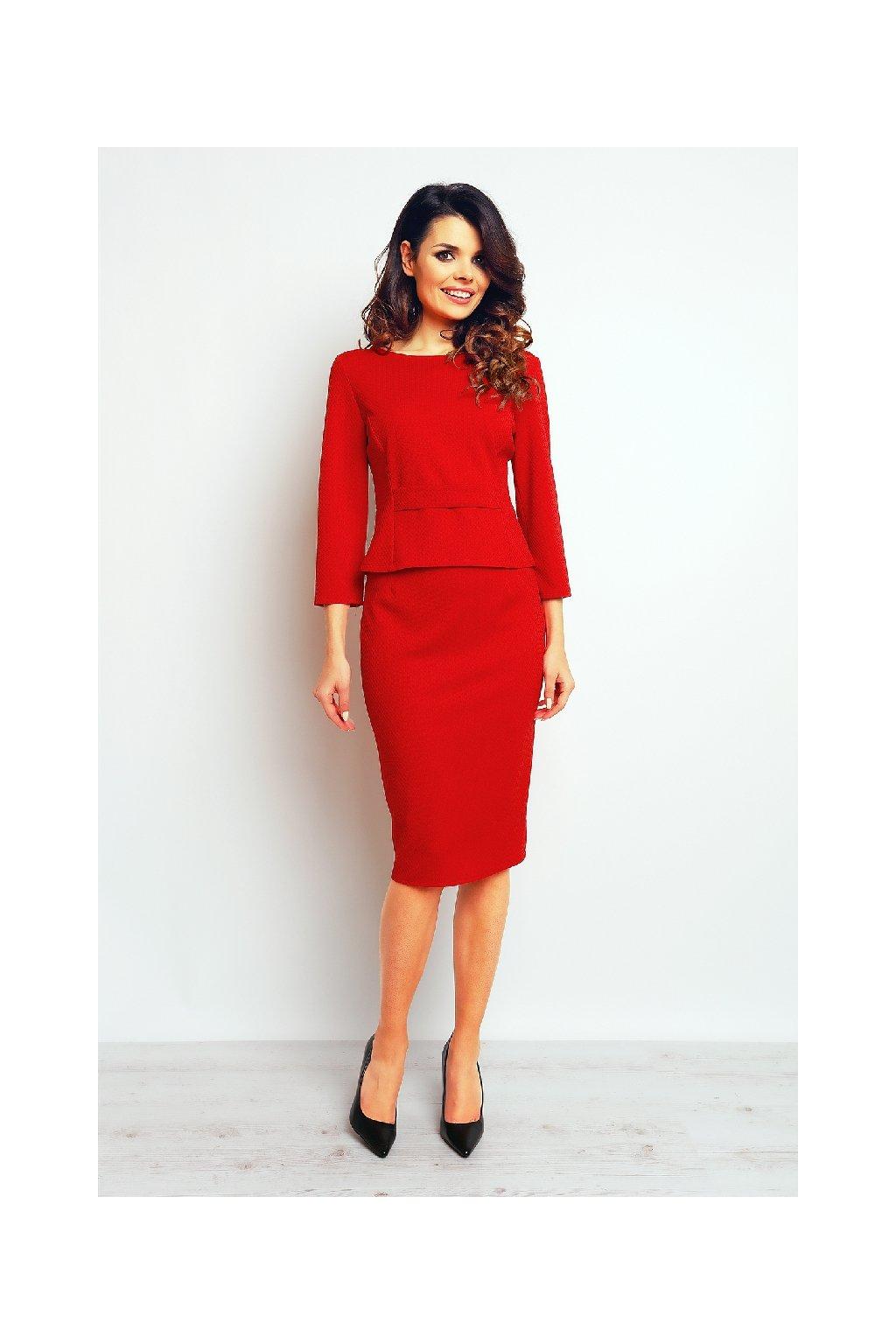 Elegantní sukně Infinite You M090 červená