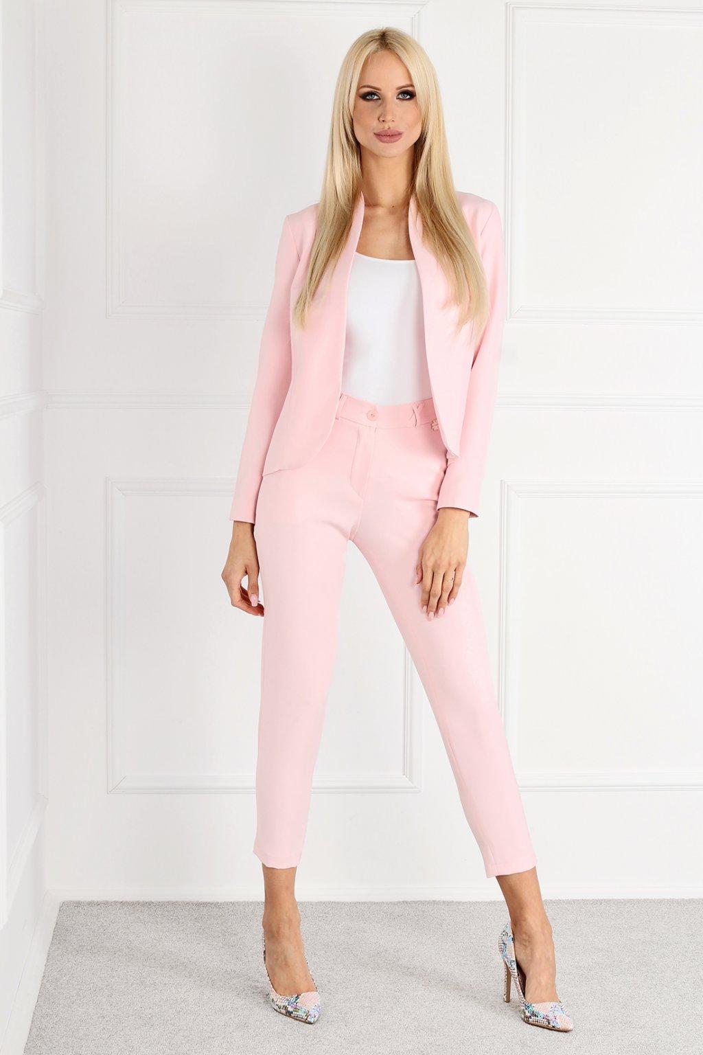 Dámský kalhotový kostým Lykke C77 růžový