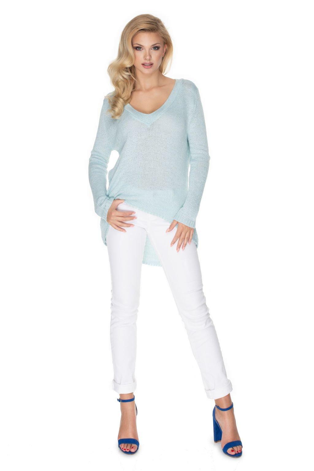Volný svetr PeeKaBoo 30067 modrý