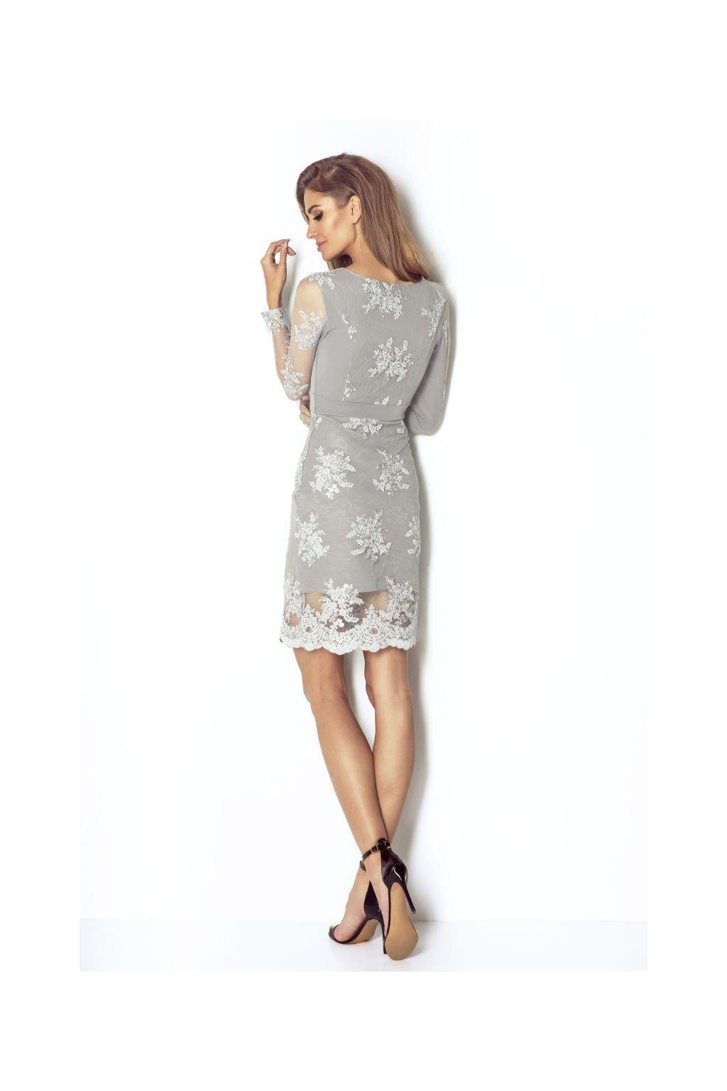 sukienka Paris popielaty 3