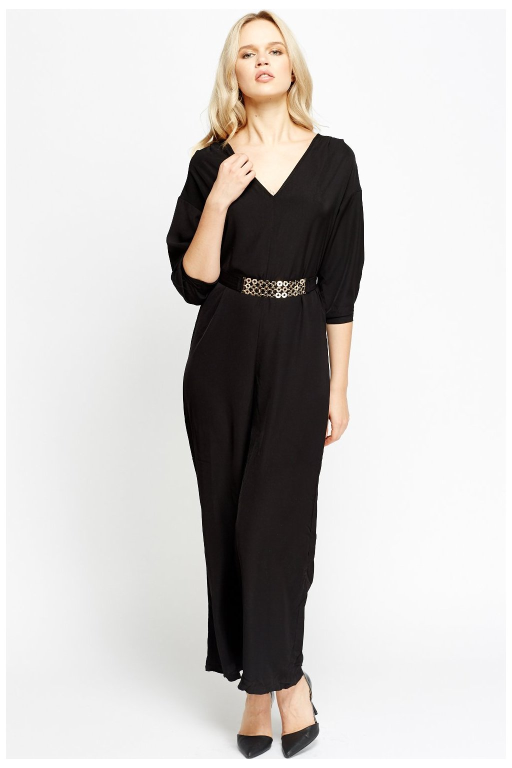 black belted jumpsuit black 45746 4