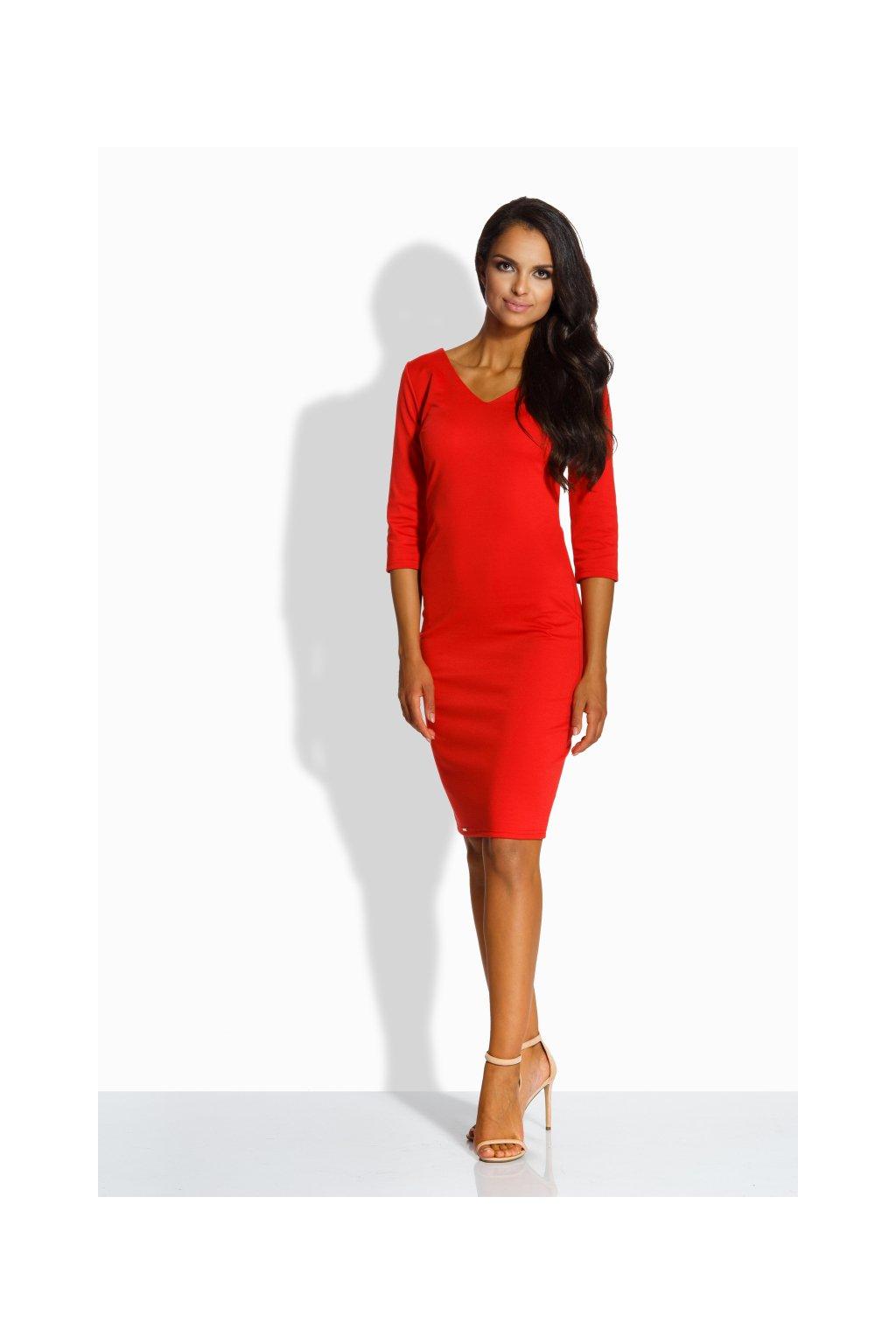 Dámské šaty Lemoniade L228 červené zepředu