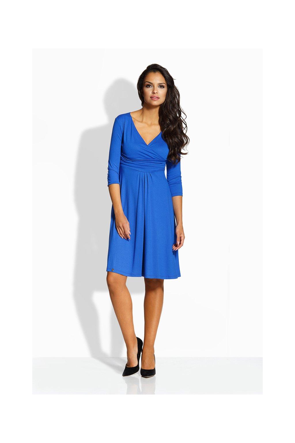 Elegantní šaty Envy Me EM134 modré zepředu