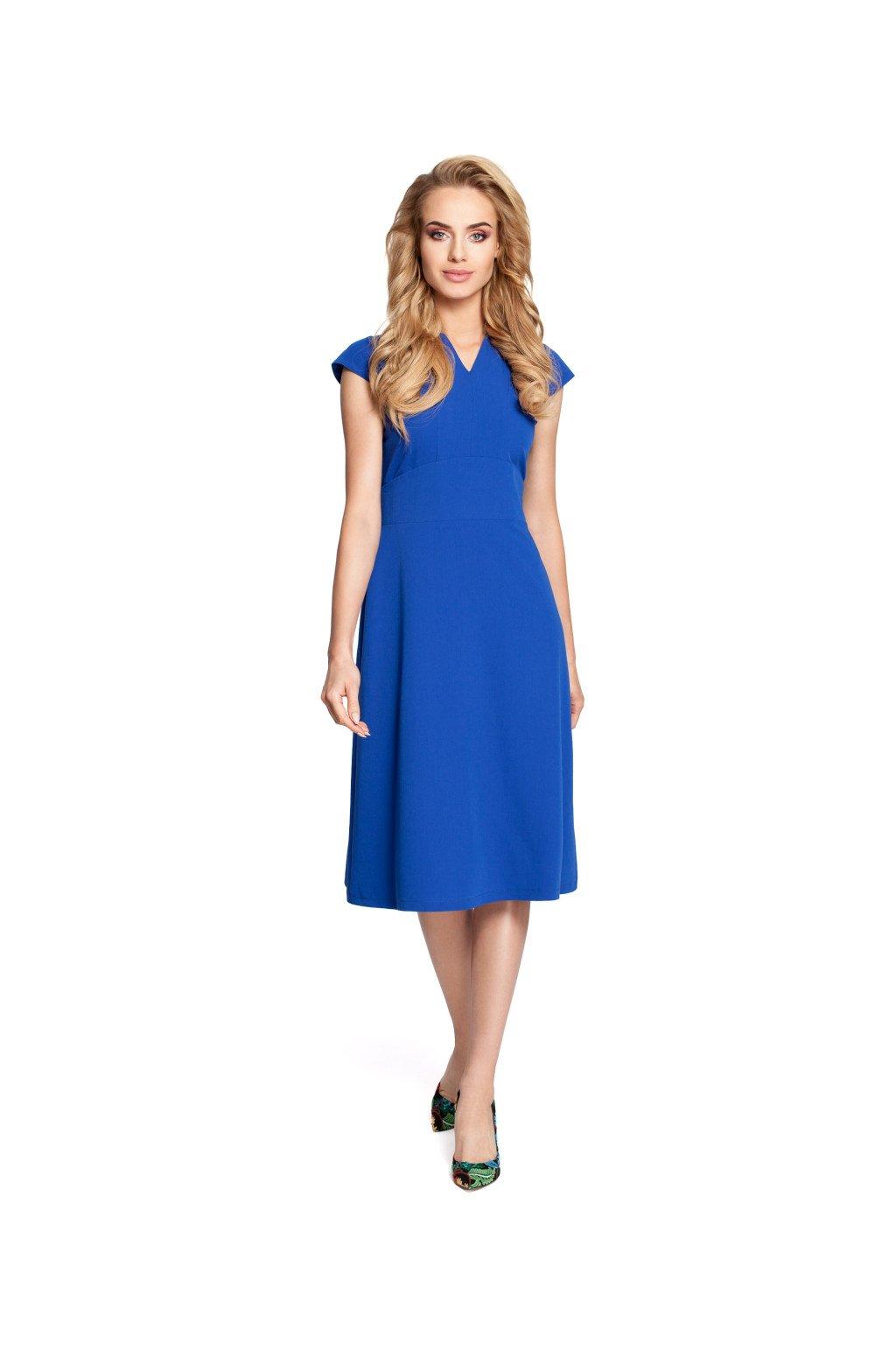 Dámské elegantní šaty MOE 312 modré