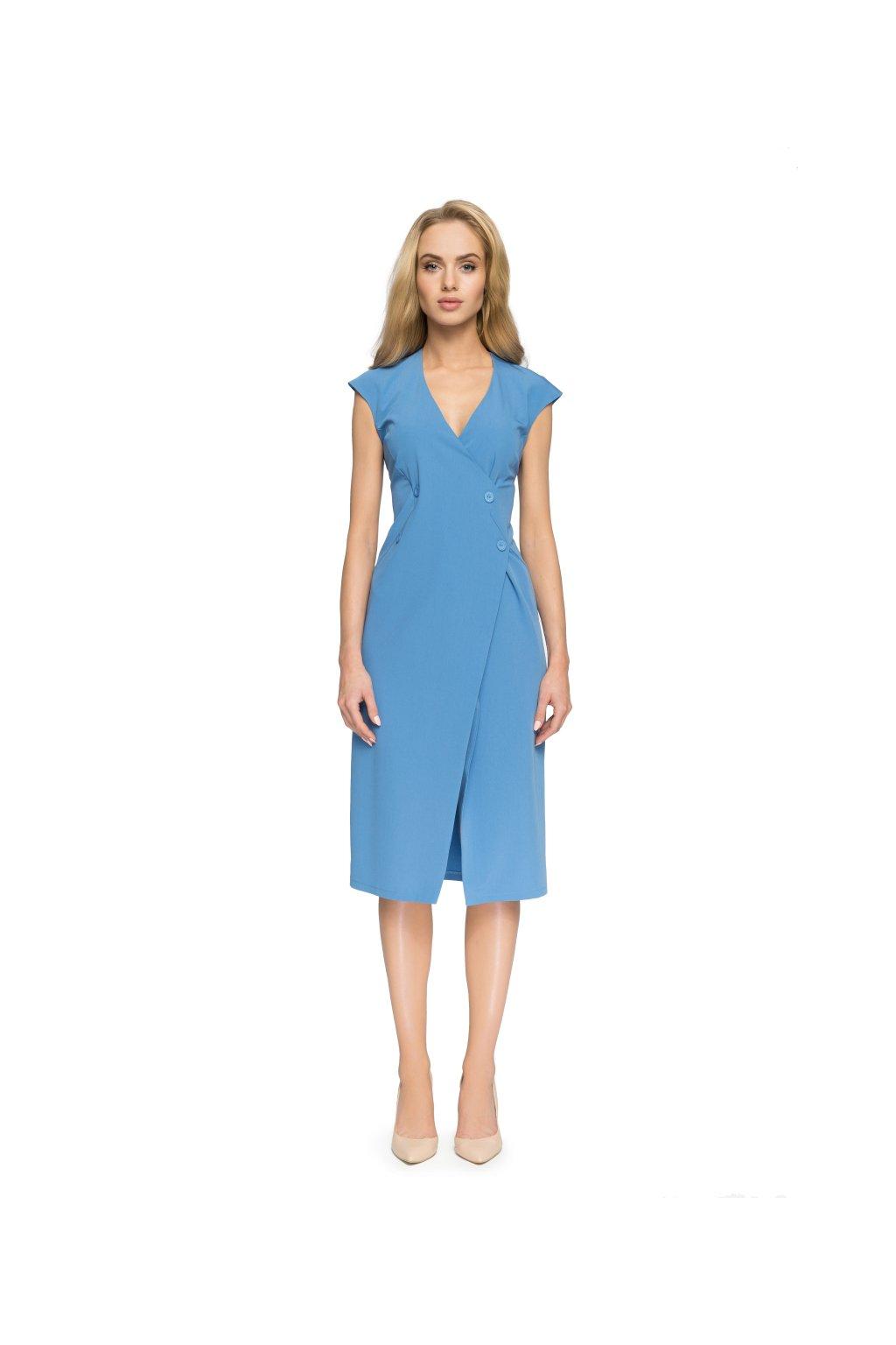 11d987f4b58b Dámské elegantní šaty Style S068 světle modré - SD-Fashion.cz