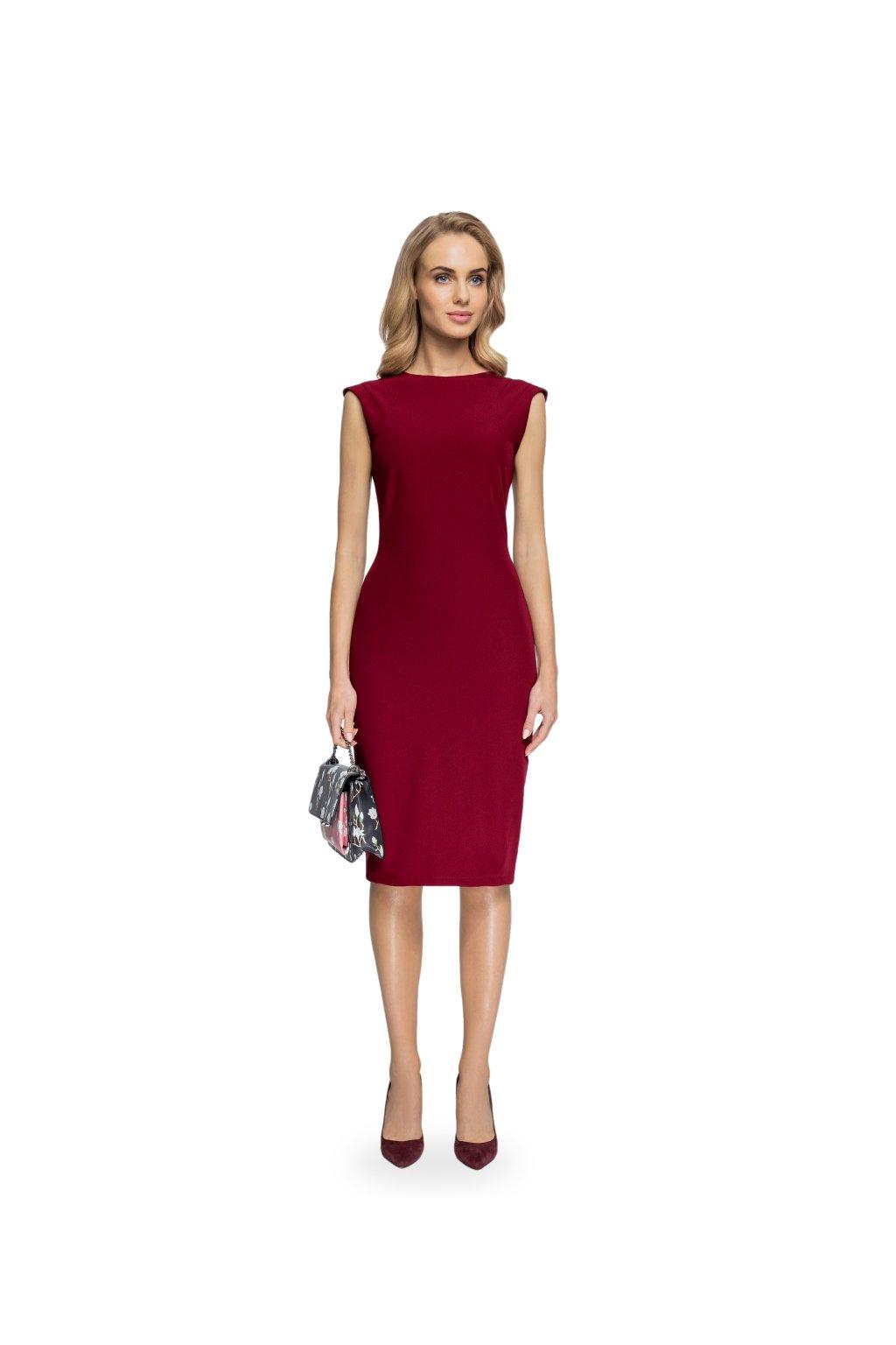 Elegantní pouzdrové šaty Style S080 černé - SD-Fashion.cz 62e0a8023b