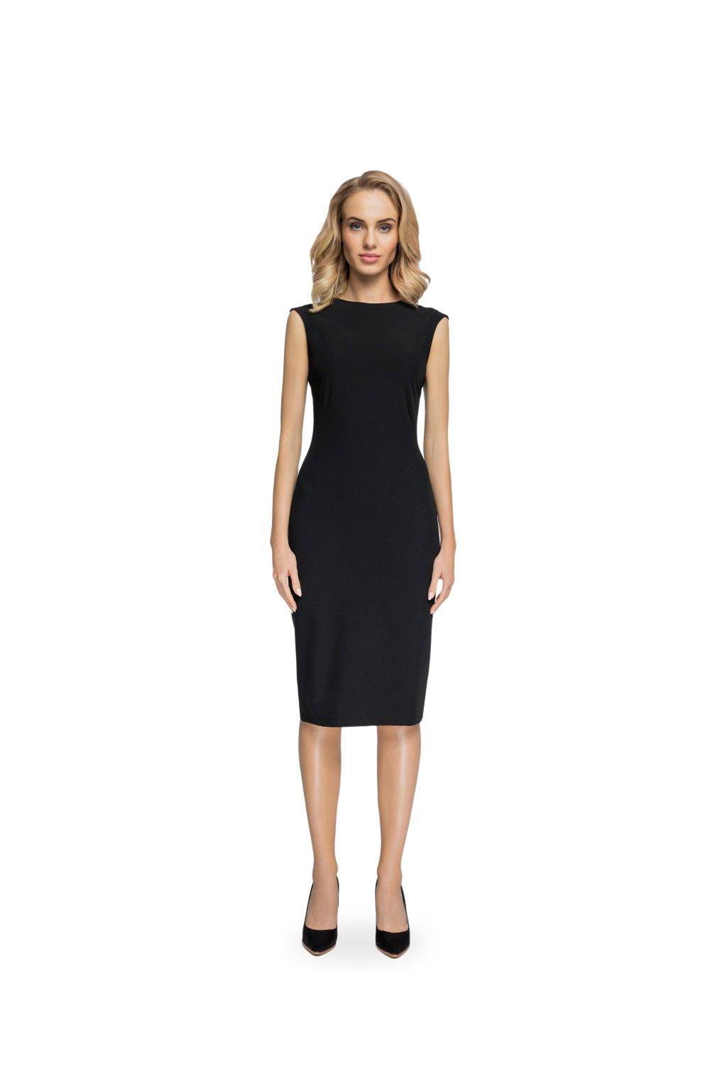 e367e5df799 Elegantní pouzdrové šaty Style S080 černé - SD-Fashion.cz