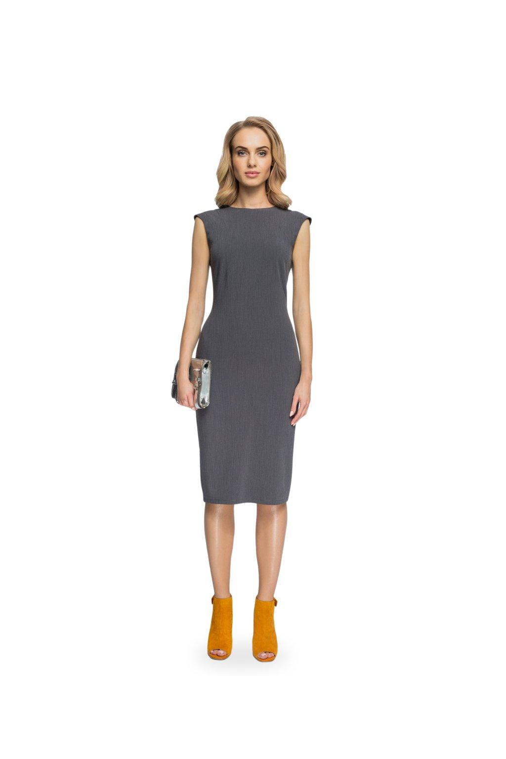 fb87711022 Elegantní pouzdrové šaty Style S080 černé - SD-Fashion.cz