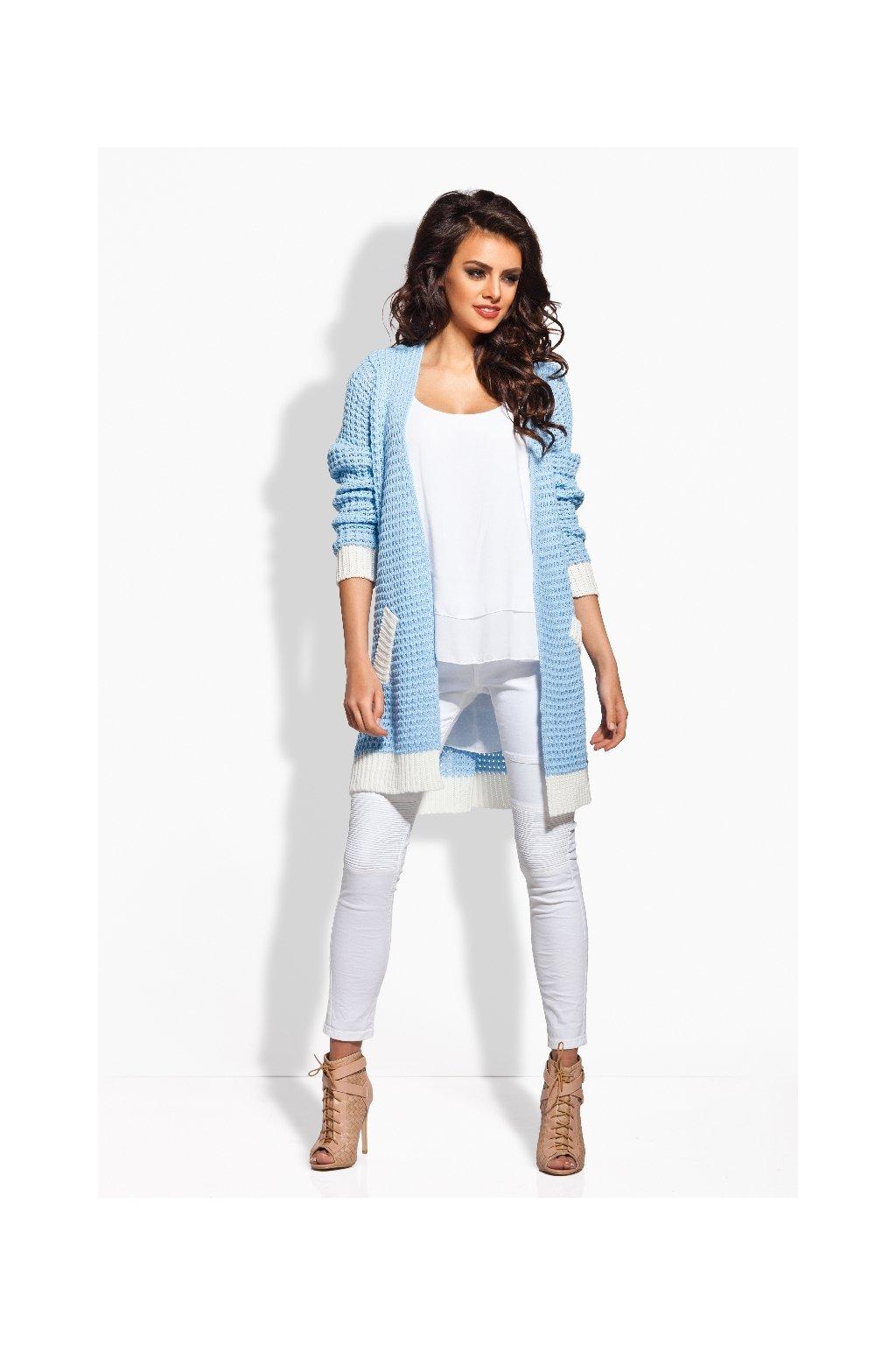 Dámský pletený kabátek Lemoniade LS163 modrý