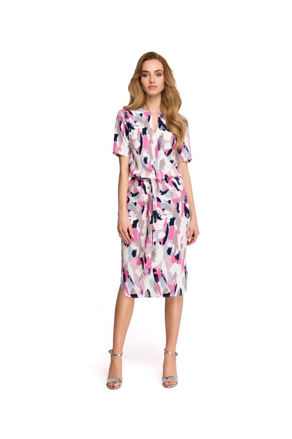 Letní šaty s potiskem Style S114 vzor 3 - SD-Fashion.cz bf0e7ad3a0