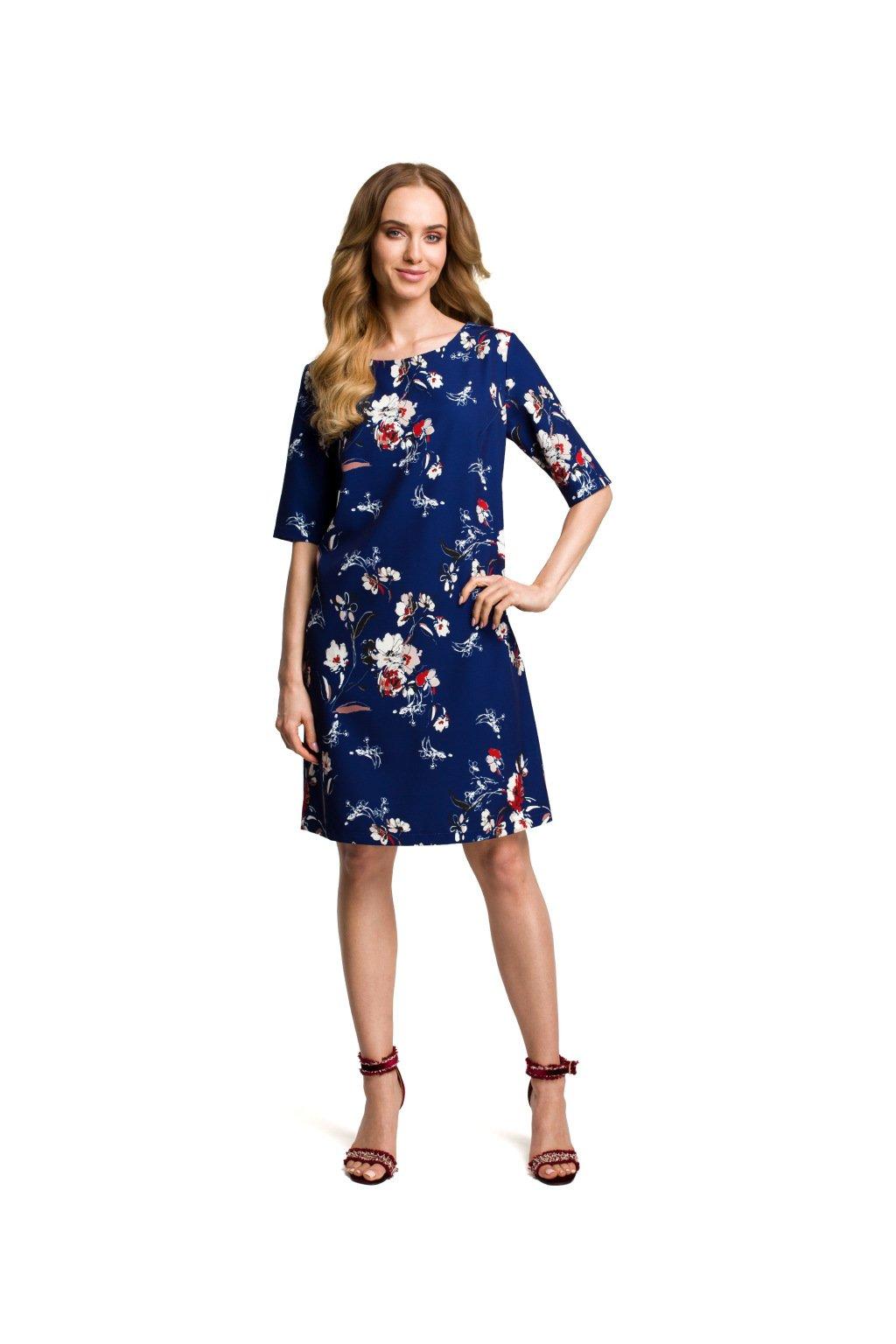 9e2dacd9e91 Dámské letní šaty MOE 379 modré - SD-Fashion.cz