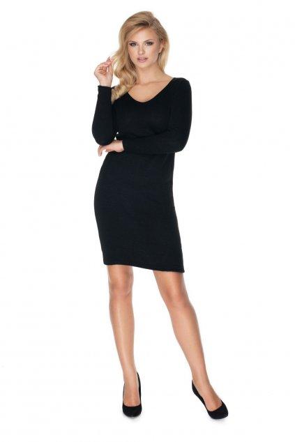 Pletené šaty PeeKaBoo 40040 černé