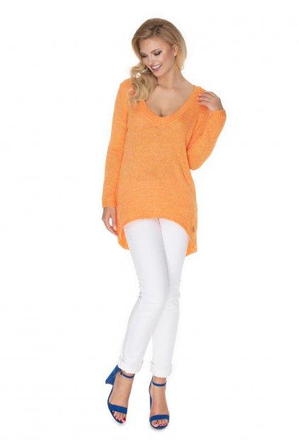 Volný svetr PeeKaBoo 30067 oranžový