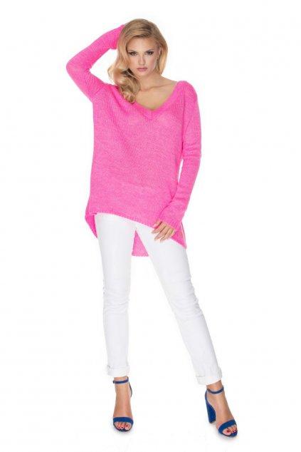 Volný svetr PeeKaBoo 30067 růžový