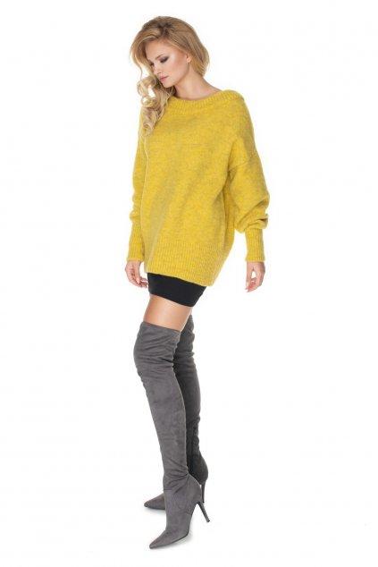 Klasický svetr PeeKaBoo 30064 žlutý
