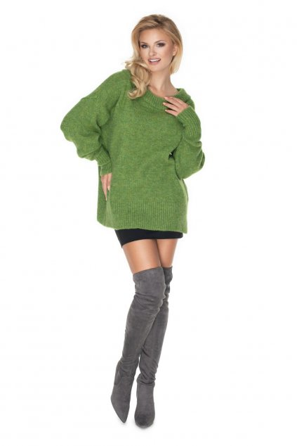 Klasický svetr PeeKaBoo 30064 zelený
