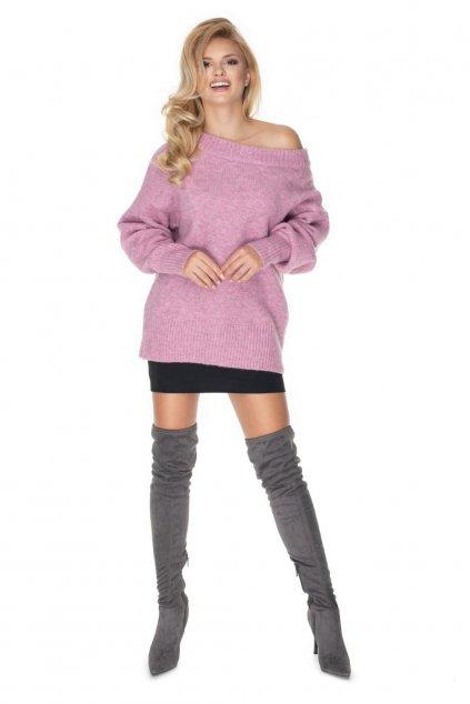 Klasický svetr PeeKaBoo 30064 růžový
