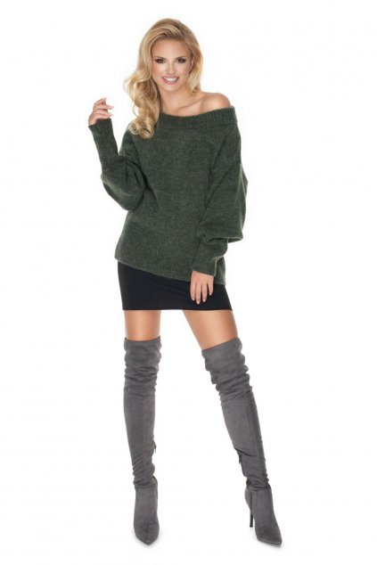 Klasický svetr PeeKaBoo 30064 khaki