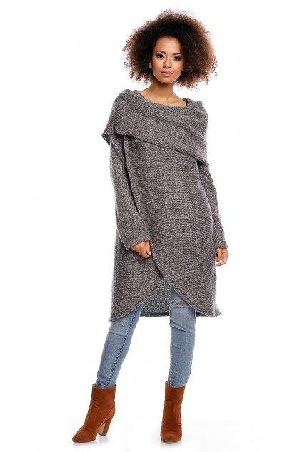 Dlouhý svetr PeeKaBoo 30051 tmavě šedý