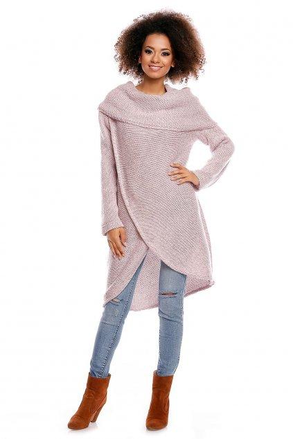 Dlouhý svetr PeeKaBoo 30051 růžový