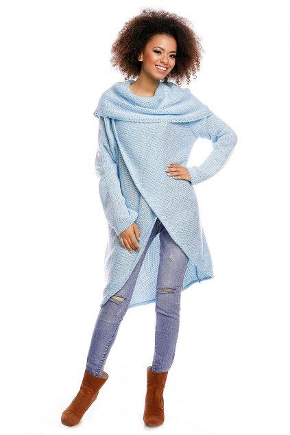 Dlouhý svetr PeeKaBoo 30051 modrý