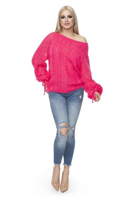 Jarní svetr PeeKaBoo 30061 růžový