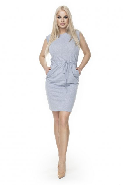 Jednoduché sportovní šaty PeeKaBoo 0122 šedé
