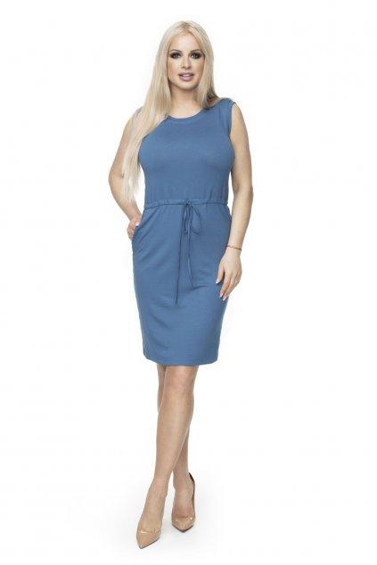 Jednoduché sportovní šaty PeeKaBoo 0122 modré