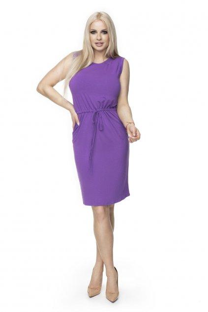 Jednoduché sportovní šaty PeeKaBoo 0122 fialové