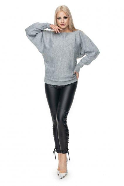 Lehký svetr s netopýřími rukávy PeeKaBoo 70003 šedý